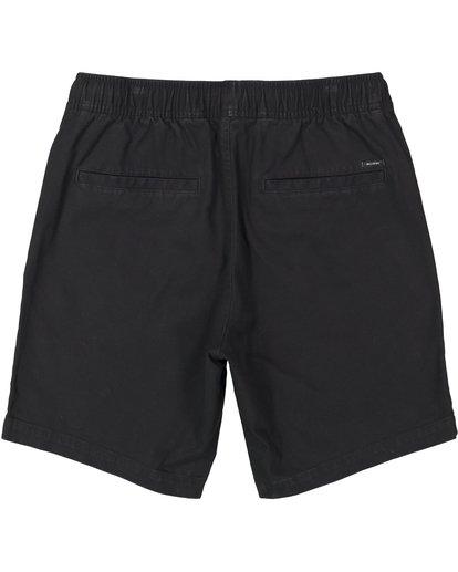 1 Larry Stretch Elastic Shorts Black M244QBLS Billabong