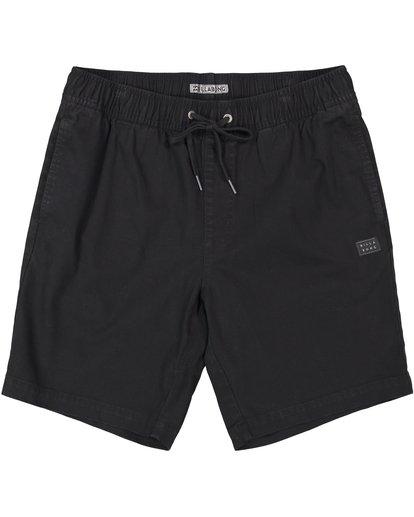 0 Larry Stretch Elastic Shorts Black M244QBLS Billabong