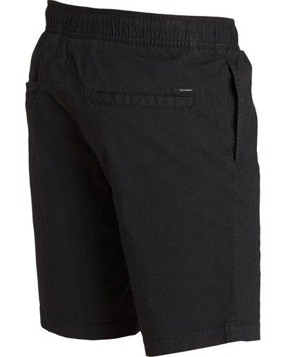 3 Larry Stretch Elastic Shorts Black M244QBLS Billabong