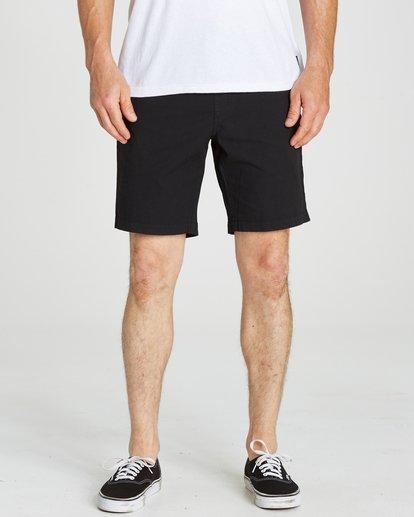 4 Larry Stretch Elastic Shorts Black M244QBLS Billabong