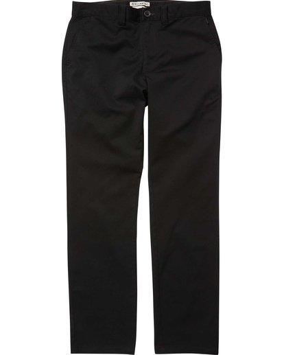 4 Carter Stretch Chino Pants Black M314QBCS Billabong