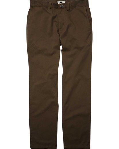 3 Carter Stretch Chino Pants Brown M314QBCS Billabong