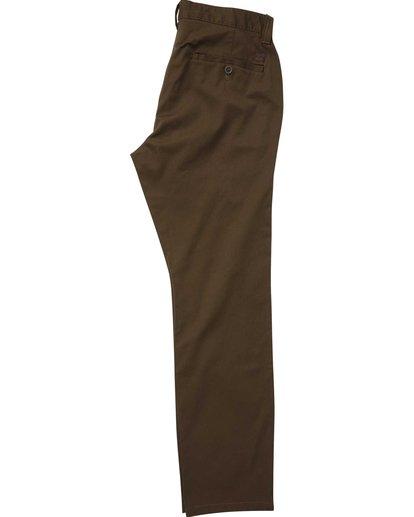 4 Carter Stretch Chino Pants Brown M314QBCS Billabong