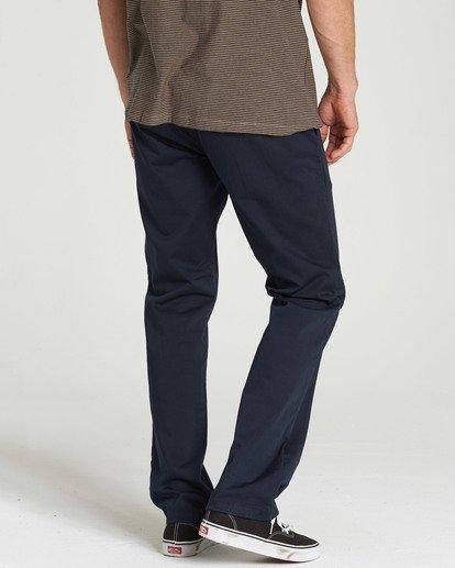 3 Carter Stretch Chino Pants Blue M314QBCS Billabong