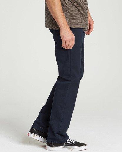 2 Carter Stretch Chino Pants Blue M314QBCS Billabong