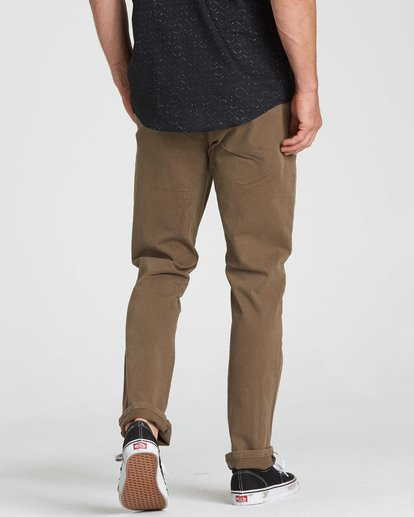4 New Order Chino Pant Brown M315QBNO Billabong