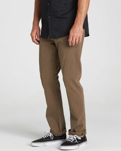 2 New Order Chino Pant Brown M315QBNO Billabong