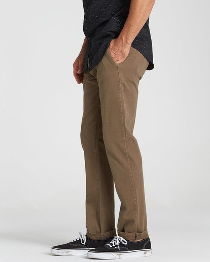 3 New Order Chino Pant Brown M315QBNO Billabong