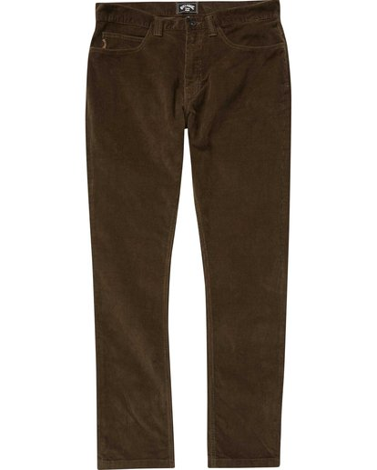 0 Outsider Cord Pant Brown M316QBOU Billabong