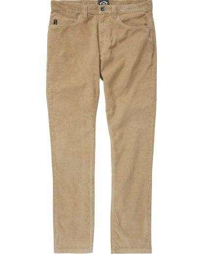 3 Outsider Cord Pant Grey M316QBOU Billabong