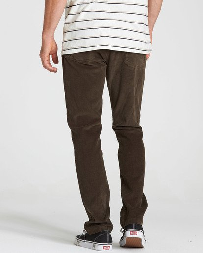 4 Outsider Cord Pant Brown M316QBOU Billabong