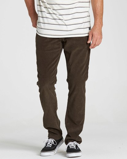 2 Outsider Cord Pant Brown M316QBOU Billabong