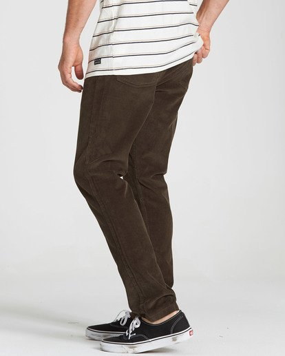 3 Outsider Cord Pant Brown M316QBOU Billabong