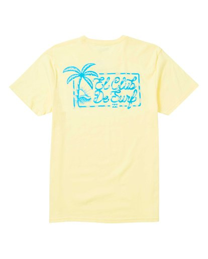 1 El Club Tee Shirt Yellow M401SBEL Billabong