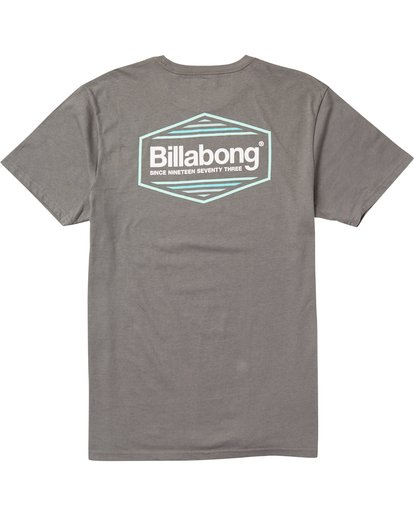 1 Pacific Tee Shirt Grey M401SBPA Billabong