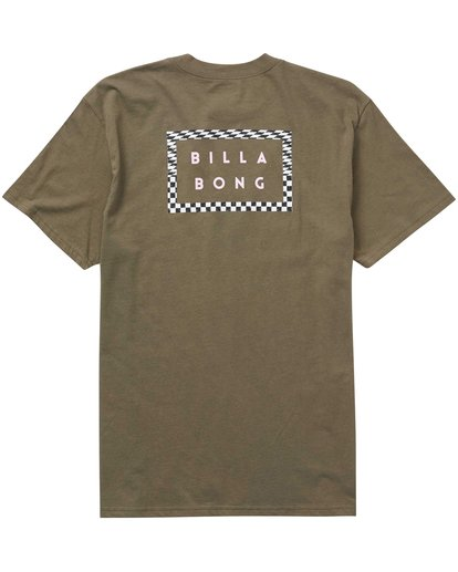 1 Border Die Cut Tee Green M404PBBO Billabong