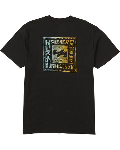 1 Boundry Tee Shirt Black M404SBBO Billabong