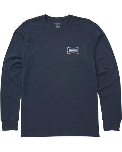0 Craftsman Long Sleeve Tee Blue M405PBCM Billabong