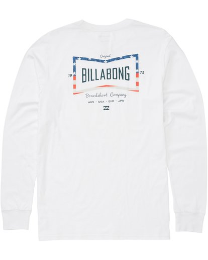 2 Cruz Long Sleeve Tee White M405PBCR Billabong