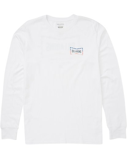 1 Cruz Long Sleeve Tee White M405PBCR Billabong