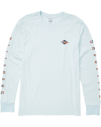 0 Heritage Long Sleeve Tee Blue M405QBHE Billabong