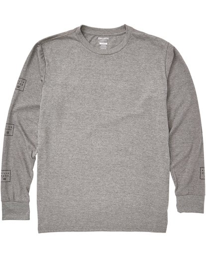 0 Stacked Long Sleeve Tee Grey M405QBST Billabong