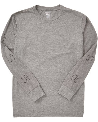 1 Stacked Long Sleeve Tee Grey M405QBST Billabong
