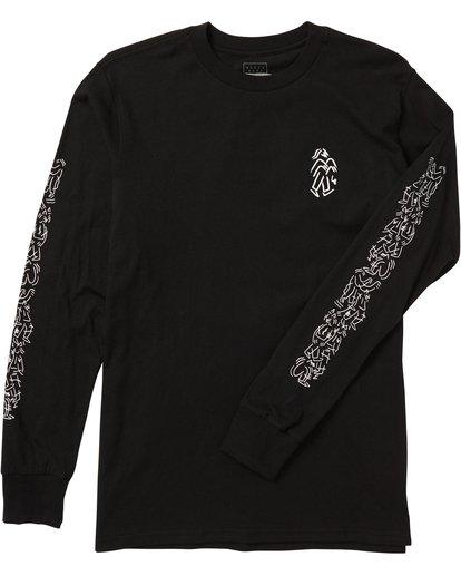 1 Gamin Long Sleeve Tee Shirt Black M405SBGA Billabong