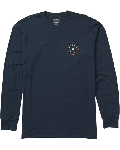 0 Rotor Long Sleeve Graphic Tee Shirt Blue M405SBRO Billabong
