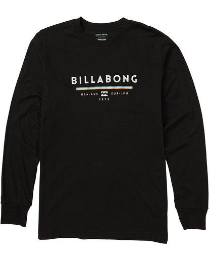 0 Unity Long Sleeve Graphic Tee Shirt Black M405SBUN Billabong