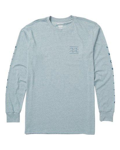 0 Unity Sleeves Long Sleeve Graphic Tee Shirt Blue M405SBUS Billabong