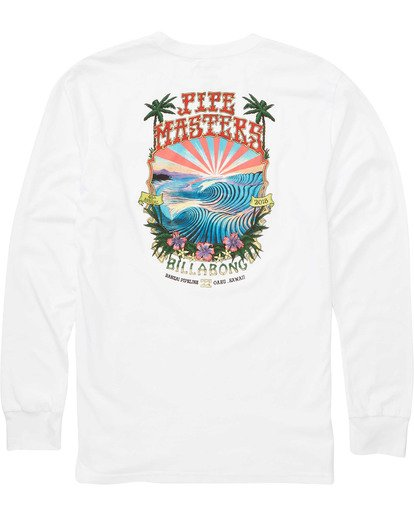 1 Banzai Long Sleeve Tee White M405TBBZ Billabong