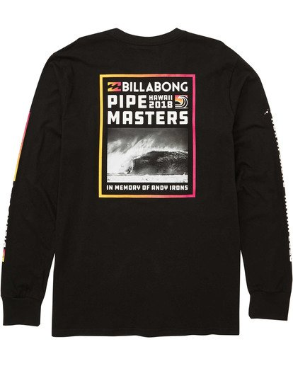 1 Pipe Poster Long Sleeve Tee Black M405TBPP Billabong