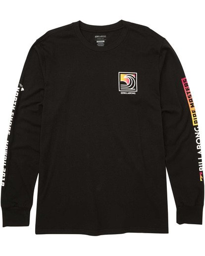 0 Pipe Poster Long Sleeve Tee Black M405TBPP Billabong