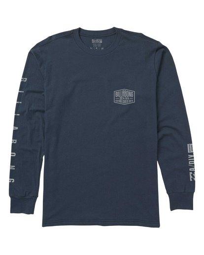 0 Clearwater Performance Long Sleeve Tee Blue M415SBCL Billabong