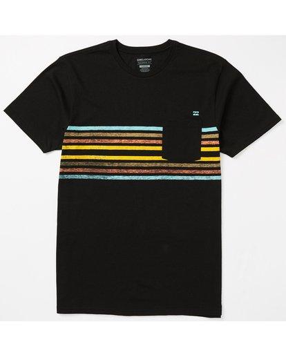 0 Spinner Pocket T-Shirt Black M431SBST Billabong