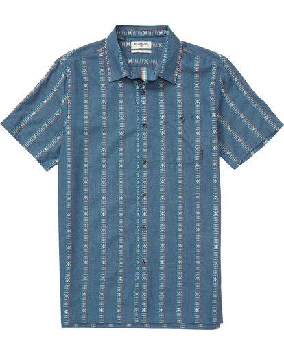 0 Sundays Jacquard Short Sleeve Shirt Blue M503QBSJ Billabong