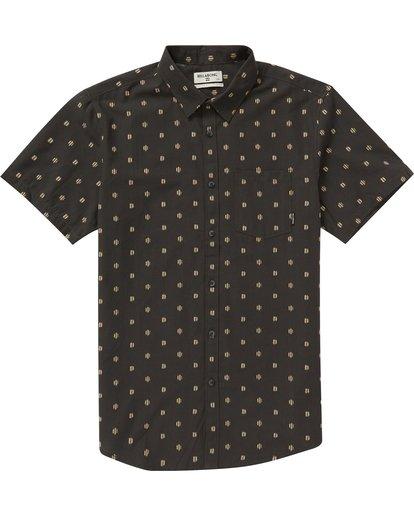 0 Sundays Jacquard Short Sleeve Shirt Grey M504NBSJ Billabong