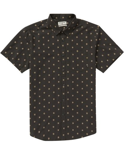 1 Sundays Jacquard Short Sleeve Shirt Grey M504NBSJ Billabong
