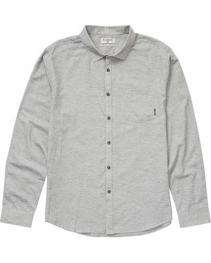 0 All Day Helix Long Sleeve Shirt Grey M520NBAL Billabong