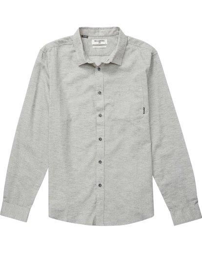 1 All Day Helix Long Sleeve Shirt Grey M520NBAL Billabong
