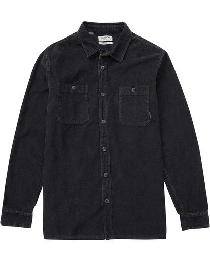0 Wave Washed Cord Shirt Black M526QBWC Billabong