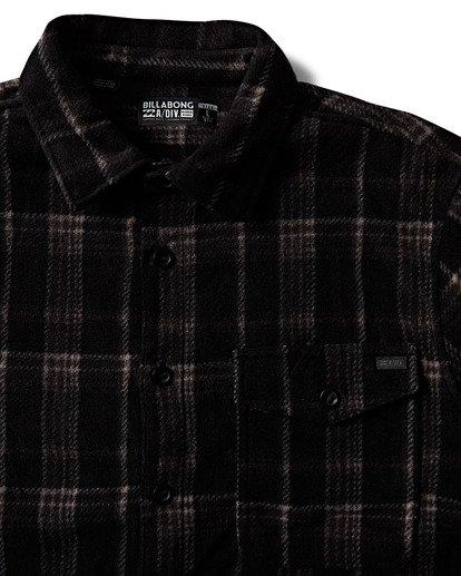 1 Furnace Flannel Polar Fleece Flannel Shirt Black M527QBFF Billabong