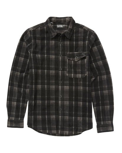 0 Furnace Flannel Polar Fleece Flannel Shirt Black M527QBFF Billabong