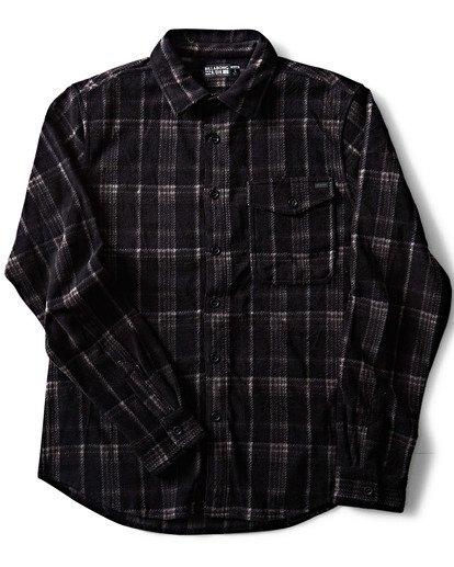 2 Furnace Flannel Polar Fleece Flannel Shirt Black M527QBFF Billabong