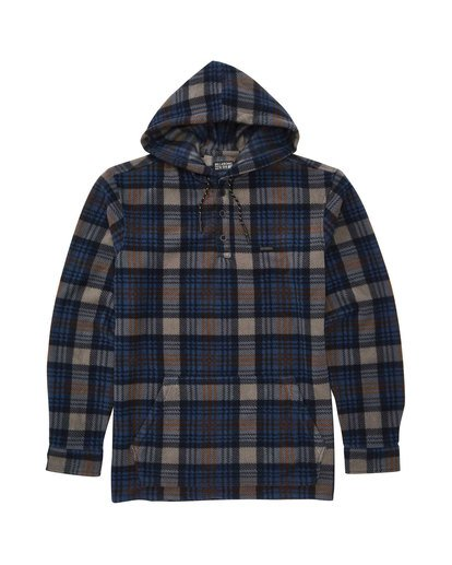 0 Furnace Anorak Polar Fleece Flannel Shirt Blue M533SBFA Billabong