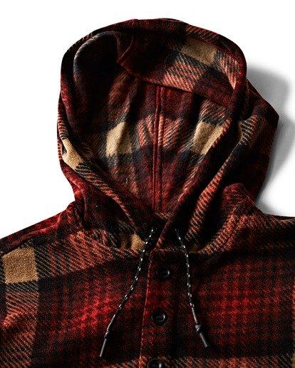 1 Furnace Anorak Polar Fleece Flannel Shirt Red M533SBFA Billabong