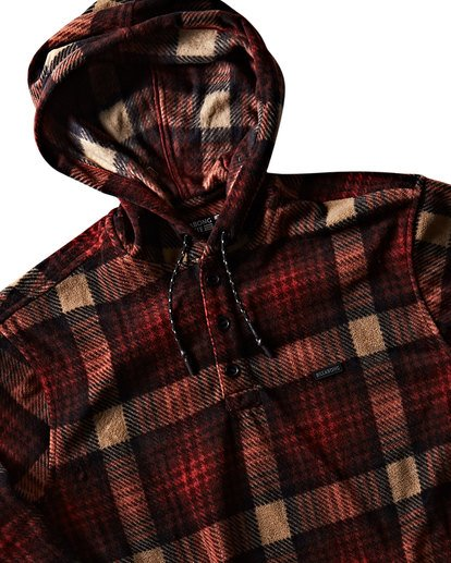 1 Furnace Anorak Polar Fleece Flannel Shirt Red M533SBFA Billabong