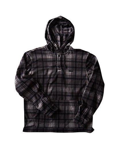 0 Furnace Anorak Polar Fleece Flannel Shirt Grey M533SBFA Billabong