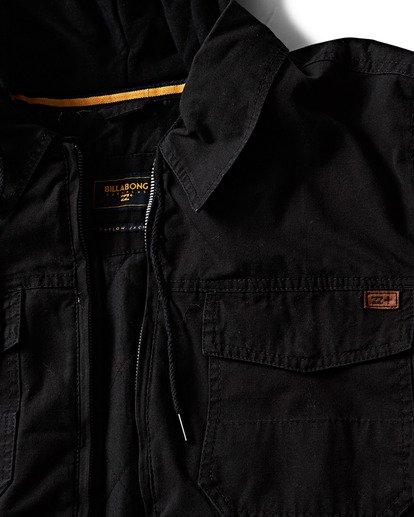 1 Barlow Twill Jacket Black M706QBBT Billabong